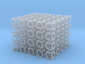 Little Cubes 100x scale 1-100  in Smooth Fine Detail Plastic: 1:100