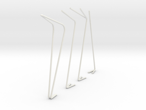 Street Lights scale 1-100 in White Natural Versatile Plastic: 1:100