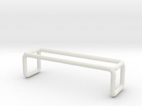 Bench 3 scale 1-100 in White Strong & Flexible: 1:100