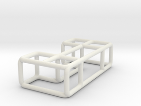 Bench 5 scale 1-100 in White Natural Versatile Plastic: 1:100