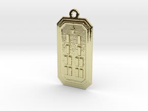 BABA IROSO MEYI in 18k Gold Plated Brass