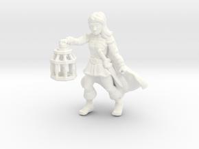 Wenda, Novice Adventurer (28mm/Heroic scale) in White Processed Versatile Plastic