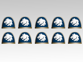 Celestial Lions Shoulder Pads X10 in Frosted Extreme Detail