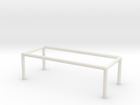 Table 1-100 300x120x90 Cm in White Natural Versatile Plastic: 1:100