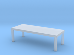 Table Solid 1-100 300x120x90 Cm in Smooth Fine Detail Plastic: 1:100