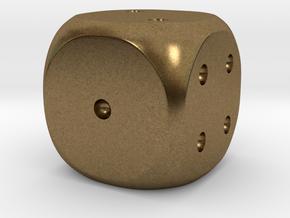 Precious metal dice - platinum, gold or silver in Natural Bronze