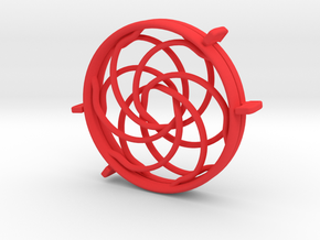 New FlexFidget in Red Processed Versatile Plastic