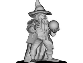 Dwarf Wizard in White Natural Versatile Plastic