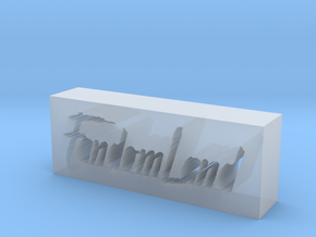 FandomLand Logo in Smooth Fine Detail Plastic
