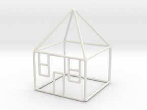 House 3 scale 1-200 10x10x14m in White Natural Versatile Plastic: 1:200