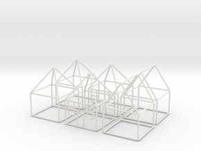 House 6x scale 1-200 10x10x14m in White Natural Versatile Plastic: 1:200