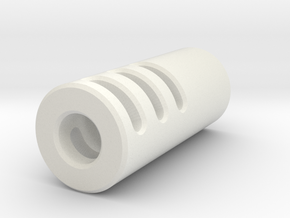 Slim Muzzle Device V4 in White Natural Versatile Plastic