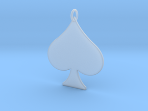 Spade Pendant in Smooth Fine Detail Plastic
