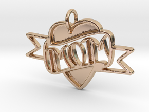 MOM Pendant in 14k Rose Gold Plated Brass