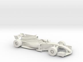 F1 2017 car 1/18 in White Natural Versatile Plastic