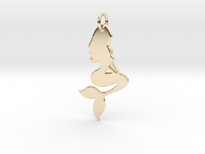 Mermaid Pendant in 14k Gold Plated Brass