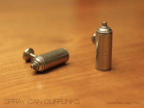 Spray Paint Can Cufflinks in Stainless Steel