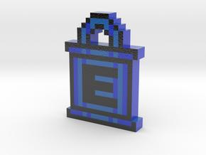 Mega Man E-Tank Keychain in Glossy Full Color Sandstone