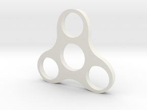 Penny Spinner in White Natural Versatile Plastic