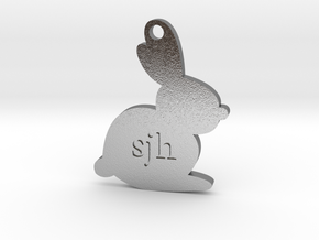 Bouncing Baby Bunny™ Charm in Natural Silver