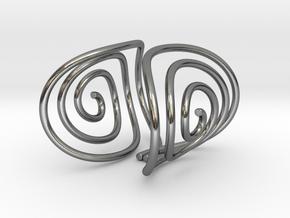 Spiral Torision Spring Inspired Bracelet in Polished Silver