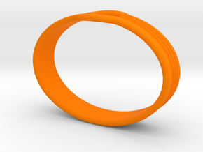 Bracelet UU in Orange Processed Versatile Plastic