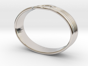 Bracelet UU in Rhodium Plated Brass