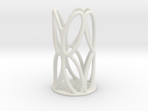 Stationery Stand in White Natural Versatile Plastic