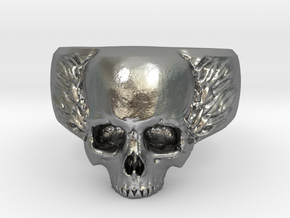 Small Skull in Raw Silver