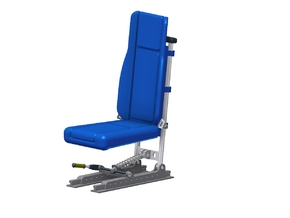 Bell 430 Seat (to suit Vario 1:6 Model) in White Strong & Flexible