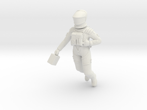 SF Astronaut, Floating Study 1:24 in White Natural Versatile Plastic
