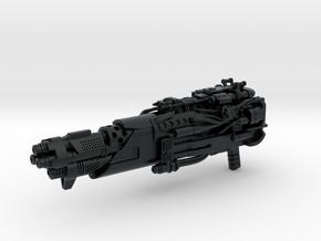 Tri-barrel Blaster for Evasion Optimus in Black Hi-Def Acrylate