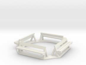 Benches in White Natural Versatile Plastic
