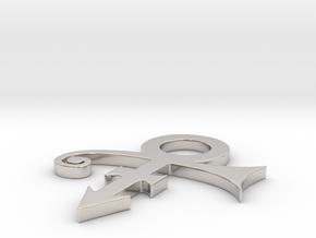 Prince Logo in Platinum: Extra Large