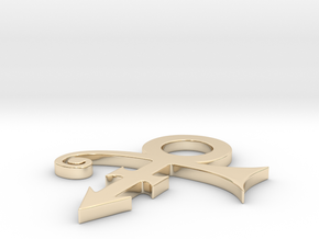 Prince Logo in 14k Gold Plated Brass: Extra Large
