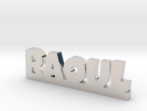 RAOUL Lucky in Rhodium Plated Brass