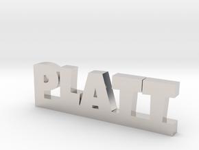 PLATT Lucky in Rhodium Plated Brass
