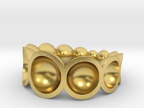 spheres ring bowls crescendo in Polished Brass: 7.75 / 55.875
