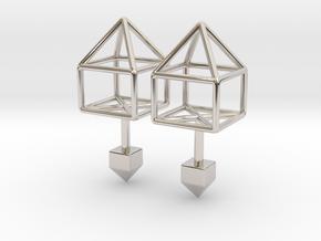 House Cufflinks in Platinum