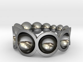 bowls ring in Polished Silver: 4.75 / 48.375