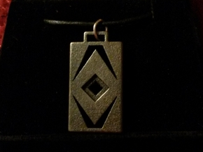 Diamond Cut Pendant in Matte Black Steel