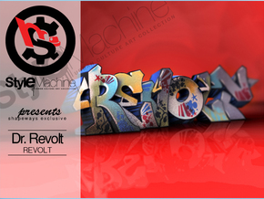 REVOLT graffiti sculpture in White Natural Versatile Plastic: Medium