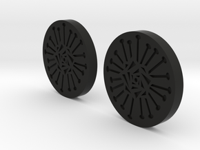 Poppy Button in Black Natural Versatile Plastic