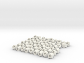 Globe Knot Connectors in White Natural Versatile Plastic