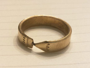 Pencil Ring, Size 9 in Natural Brass