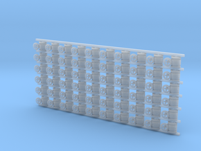 ø2.4mm Valves 60pc in Smooth Fine Detail Plastic
