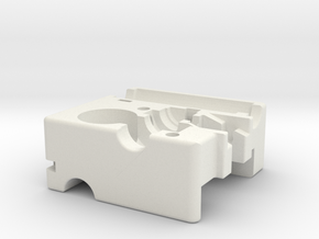 Ultimaker Adaptor Main Block in White Strong & Flexible