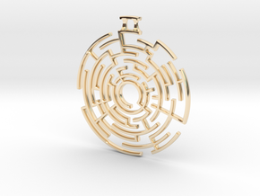 Labyrinthine Pendant in 14K Yellow Gold