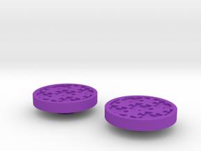 Awareness Puzzle Button in Purple Processed Versatile Plastic