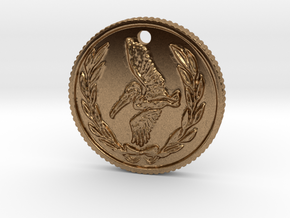 Resident evil 7 biohazard coin necklace in Natural Brass